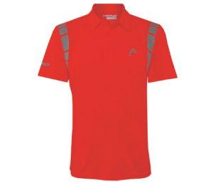 Head Dry Fit Polo Red Shirt