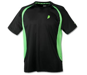Prince Crew Black/Green Shirt (3M100-079)