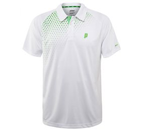 Prince Graphic Polo White/Green Shirt (3M101-132)