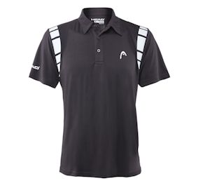 Head Dry Fit Polo Black  Shirt