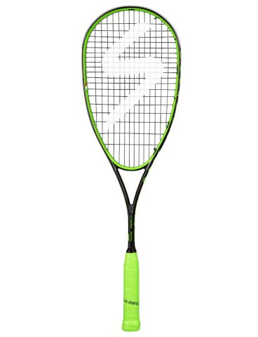 black and red 2018 model Salming Fusione Feather squash racket