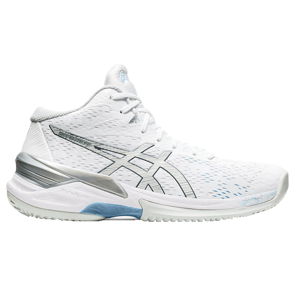 ASICS Sky Elite FF MT (MID) Women's INDOOR Shoe (White/Pure Silver) (1052A023.102)