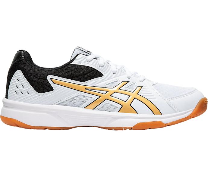 ASICS UpCourt 3 Women's Shoe (White/Pure Gold) (1072A012.106)