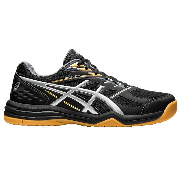 ASICS UpCourt 4 Men's Indoor Shoe (Black/Pure SIlver) (1071A053.001)