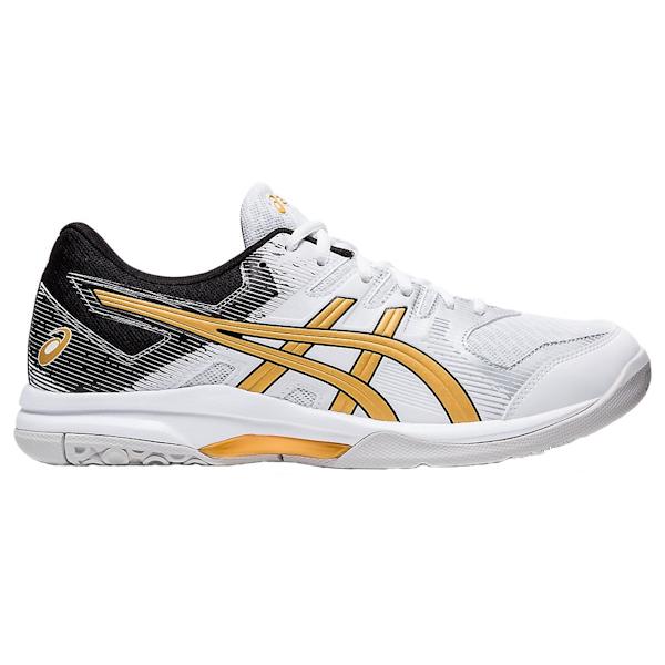 ASICS Gel-Rocket 9 Men's Squash Shoes (1071A030.103) (White/Pure Gold)