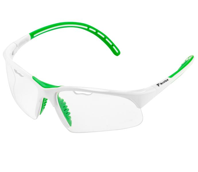 Tecnifibre Absolute Squash Eyewear (White/Green)