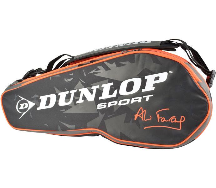 Dunlop Performance 8 Racquet Bag - Ali Farag (Black/White/Red)