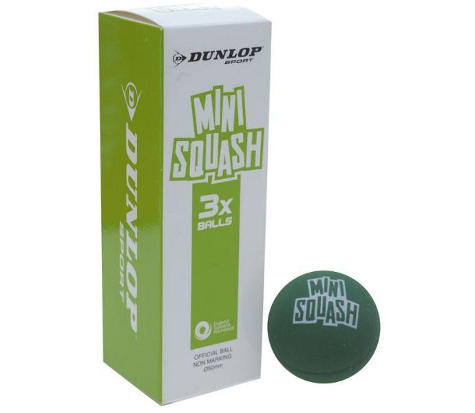 Dunlop Mini Squash Ball (3-Pack) (GREEN)