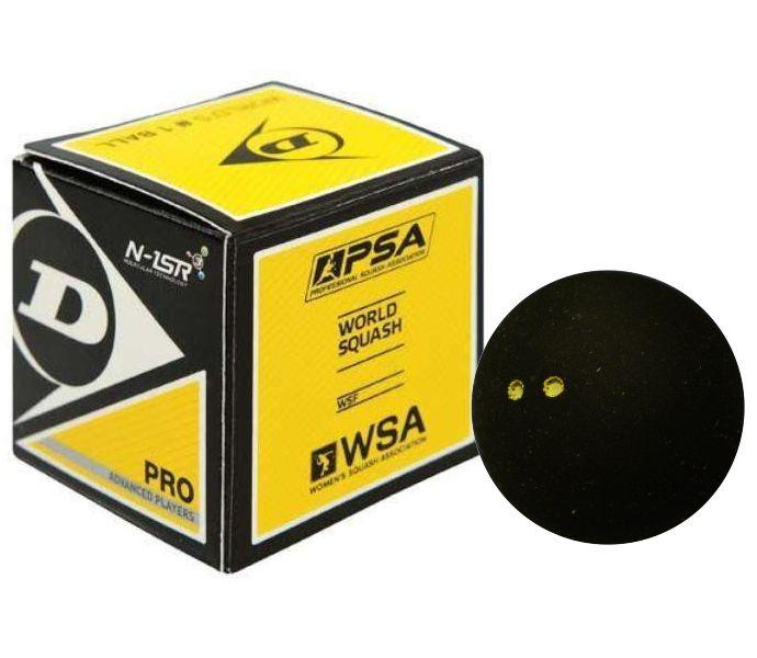 Dunlop (Pro) Squash Ball (1-Ball) (Double Yellow Dot) (700108US)