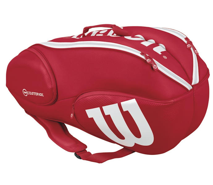 Wilson Pro Staff 9 Pack Bag (Red/White)