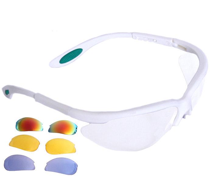 Python RG Multi Lens White Frame Eyewear w/Protective Case